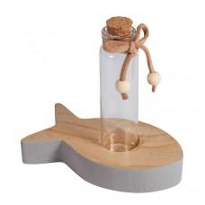 Декоративная рыбка-подставка с пробиркой и пробковой крышкой