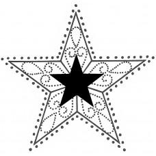 Штамп на деревянной основе Звезда