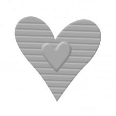 Дырокол с тиснением Сердце с полосками