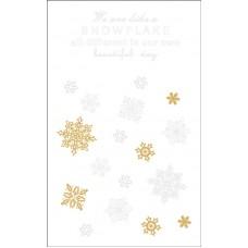 Наклейки для декорирования поверхностей Снежинки и надписи, 2 листа