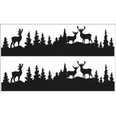 Наклейки для декорирования поверхностей Лесные обитатели, силуэты