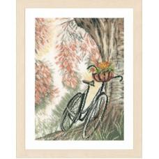 Набор для вышивания Bike & flower basket