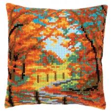 Набор для вышивания подушки Осенний пейзаж