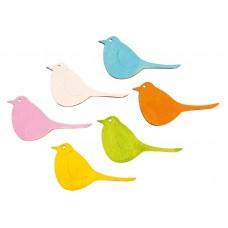 Набор декоративных элементов Птички