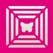 Дырокол фигурный Рамки с мотивом бабочка
