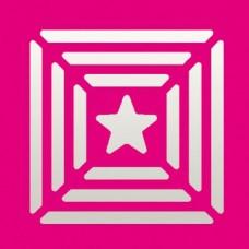 Дырокол фигурный Рамки с мотивом звезда
