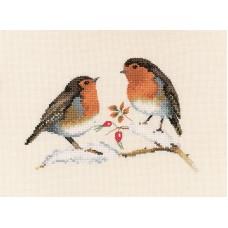 Набор для вышивания Зимние малиновки
