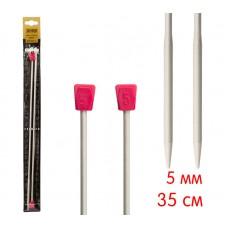 Спицы, прямые c утолщением, алюминий, №5.0, 35 см. 2 шт