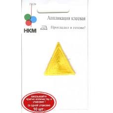 Термоаппликация HKM Треугольник цвет золотой