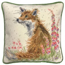 Набор для вышивания подушки Amongst The Foxgloves Tapestry (Лиса и наперстянка)