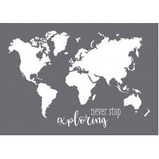 Трафарет World Map в наборе со шпателем-скребком