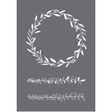 Трафарет Leaf tendril в наборе со шпателем-скребком