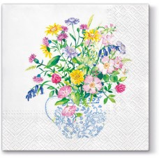 Салфетки трехслойные для декупажа, коллекция Lunch PAWDecorCollection Ваза с цветами