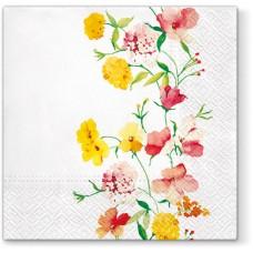Салфетки трехслойные для декупажа, коллекция Lunch PAWDecorCollection Нежные цветы