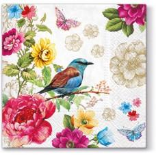 Салфетки трехслойные для декупажа, коллекция Lunch PAWDecorCollection Райская птица