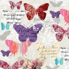 Салфетки трехслойные для декупажа, коллекция Lunch PAWDecorCollection Романтические бабочки