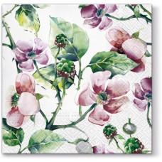 Салфетки трехслойные для декупажа, коллекция Lunch PAWDecorCollection Розовые дикие розы