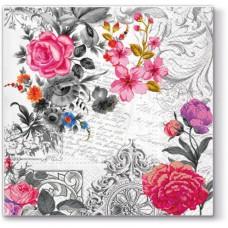 Салфетки трехслойные для декупажа, коллекция Lunch PAWDecorCollection Королевская роза