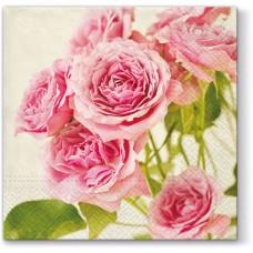 Салфетки трехслойные для декупажа, коллекция Lunch PAWDecorCollection Розовые розы
