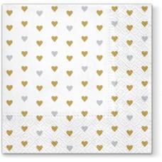 Салфетки трехслойные для декупажа, коллекция Lunch PAWDecorCollection Много любви