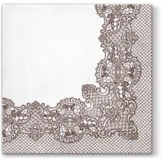 Салфетки трехслойные для декупажа, коллекция Lunch PAWDecorCollection Королевское кружево