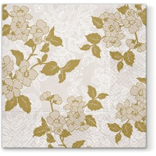 Салфетки трехслойные для декупажа, коллекция Lunch PAWDecorCollection Цветок (золото)