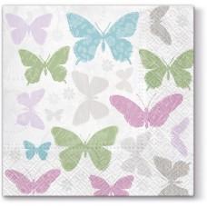Салфетки трехслойные для декупажа, коллекция Lunch PAWDecorCollection Нежные бабочки