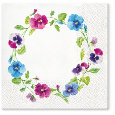 Салфетки трехслойные для декупажа, коллекция Lunch TETЕaTETE Венок цветов