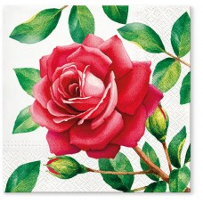 Салфетки трехслойные для декупажа, коллекция Lunch TETЕaTETE Особенная роза