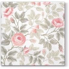 Салфетки трехслойные для декупажа, коллекция Lunch TETЕaTETE Затуманенная роза