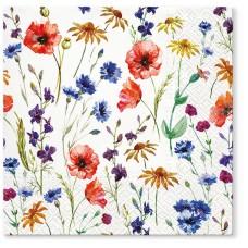 Салфетки трехслойные для декупажа, коллекция Lunch TETЕaTETE Поле цветов
