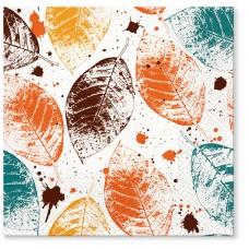 Салфетки трехслойные для декупажа, коллекция Lunch TETЕaTETE Листья с медовым оттенком