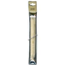 Спицы чулочные, бамбук, №8, 20 см. 5 шт на блистере