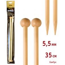 Спицы прямые, бамбук, №5,5, 35 см