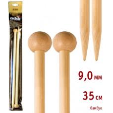 Спицы прямые, бамбук, №9, 35 см
