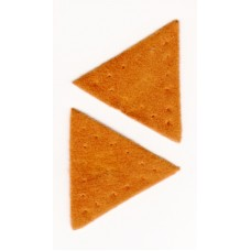 Заплатка Треугольник искусственная замша, цвет рыжий