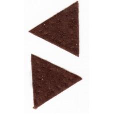 Заплатка Треугольник искусственная замша, цвет коричневый