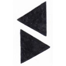 Заплатка Треугольник искусственная замша, цвет черный