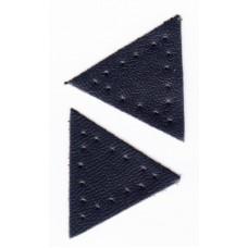 Заплатка Треугольник искусственная кожа с перфорацией, цвет серый