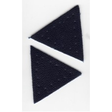 Заплатка Треугольник искусственная кожа с перфорацией, цвет синий