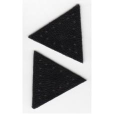 Заплатка Треугольник искусственная кожа с перфорацией, цвет черный
