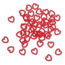Набор декоративных элементов Бусины в виде сердца