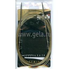 Спицы, круговые, супергладкие, экстрадлинные из никелированной латуни, №3, 300 см
