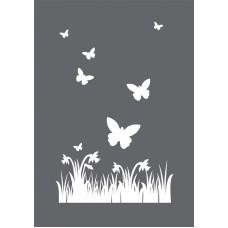 Трафарет Весна в наборе со шпателем-скребком