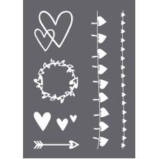 Трафарет Сердце в наборе со шпателем-скребком