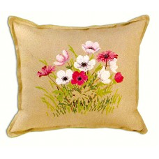 Набор для вышивания Цветы, подушка