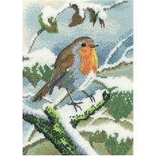 Набор для вышивания Робин зимой