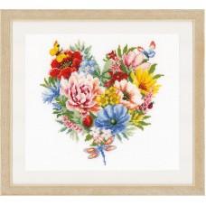 Набор для вышивания Цветочное сердце