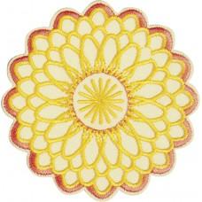 Термоаппликация Оранжево - желтый цветок