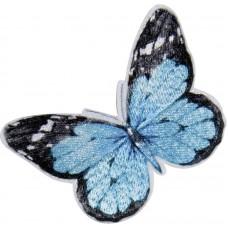 Термоаппликация Сине - черная бабочка